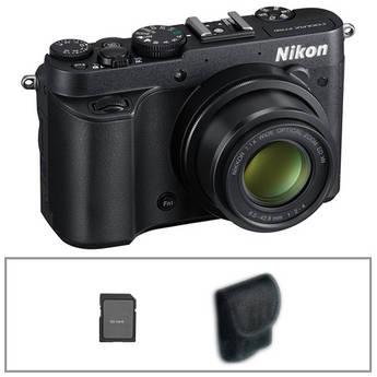 Nikon COOLPIX P7700 Digital Camera with Basic Accessory Kit (Black)