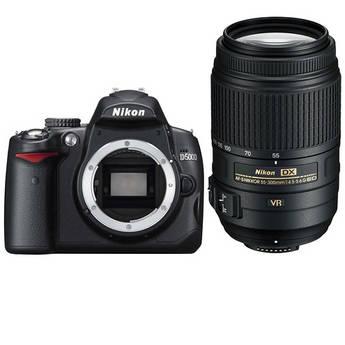 Nikon D5000 Digital SLR Camera Kit with 55-300mm VR Lens