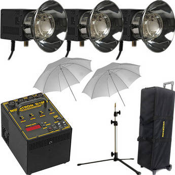 Novatron D1000 3 Fan Cooled Head Starter Kit with Wheeled Case (120V)