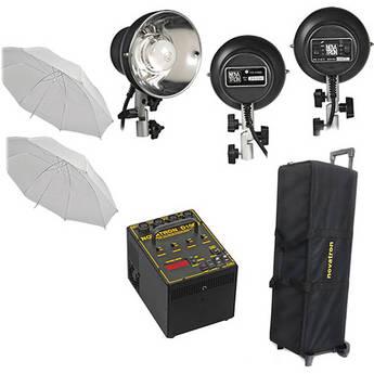 Novatron D1000 3-Light Kit W/Wheeled Case (120VAC)