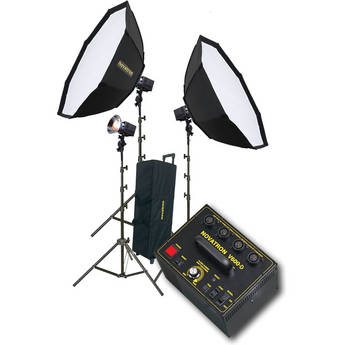 Novatron V600-D 3 FC Head Kit with 2 Softboxes and Wheeled Soft Case (115VAC)