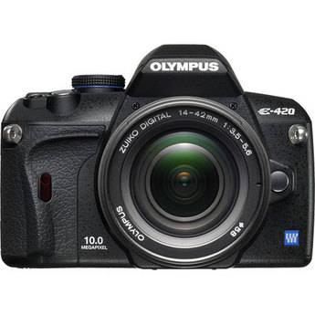 Olympus E-420 SLR Digital Camera Kit with 14-42mm Lens