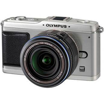 Olympus E-P1 Pen Digital Camera (Silver) w/ 14-42mm M.Zuiko Digital Lens (Black)