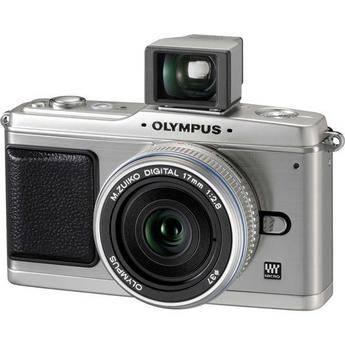 Olympus E-P1 Pen Digital Camera w/ 17mm f/2.8  Lens (Silver) & Optical Finder