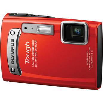 Olympus Tough TG-320 Digital Camera (Red)