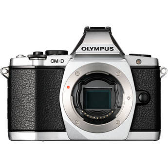 Olympus OM-D E-M5 Mirrorless Micro Four Thirds Digital Camera (Body, Silver)