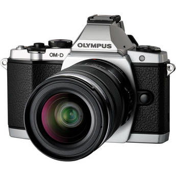 Olympus OM-D E-M5 Mirrorless Micro Four Thirds Digital Camera with 12-50mm Lens (Silver)
