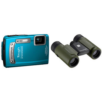 Olympus TG-320 Tough Digital Camera with 8x21 RC II Binocular