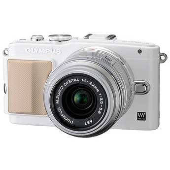 Olympus E-PL5 Mirrorless Micro Four Thirds Digital Camera with 14-42mm f/3.5-5.6 II R Lens (White Camera, Silver Lens)