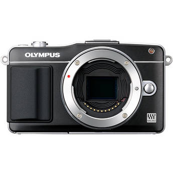 Olympus E-PM2 Mirrorless Micro Four Thirds Digital Camera Body (Black)
