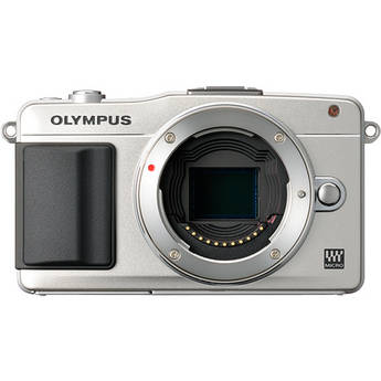 Olympus E-PM2 Mirrorless Micro Four Thirds Digital Camera Body (Silver)