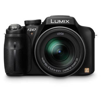 Panasonic LUMIX DMC-FZ47 Digital Camera (Black)