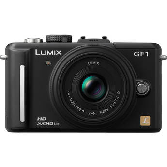 Panasonic Lumix DMC-GF1 Digital Camera with 20mm f/1.7 Lens