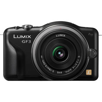 Panasonic Lumix DMC-GF3 Digital Camera with 14mm Lens Kit (Black)