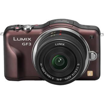 Panasonic Lumix DMC-GF3 Digital Camera with 14mm Lens Kit (Brown)