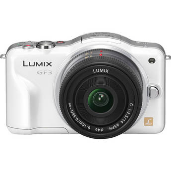 Panasonic Lumix DMC-GF3 Digital Camera with 14mm Lens Kit (White)