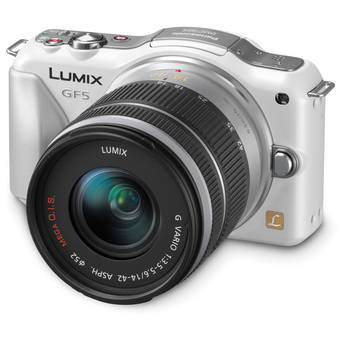 Panasonic Lumix DMC-GF5 Mirrorless Micro Four Thirds Digital Camera with 14-42mm f/3.5-5.6 Lens (White)