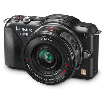 Panasonic Lumix DMC-GF5X Mirrorless Micro Four Thirds Digital Camera with 14-42mm f/3.5-5.6 Lens (Black)