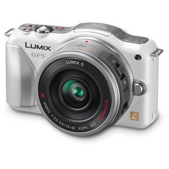 Panasonic Lumix DMC-GF5X Mirrorless Micro Four Thirds Digital Camera with 14-42mm f/3.5-5.6 Lens (White)