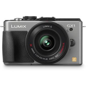 Panasonic LUMIX DMC-GX1 Mirrorless Micro Four Thirds Digital Camera with G X VARIO PZ 14-42mm f/3.5-5.6 Lens (Silver)
