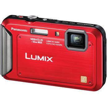 Panasonic Lumix DMC-TS20 Digital Camera (Red)