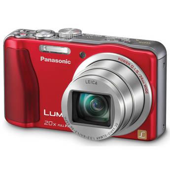 Panasonic Lumix DMC-ZS20 Digital Camera (Red)