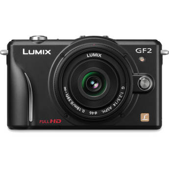 Panasonic Lumix DMC-GF2 Digital Micro Four Thirds Camera W/14mm Lens (Black)