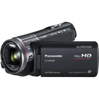 Panasonic 32GB HC-X900M 3D Ready Full HD Camcorder (Black)