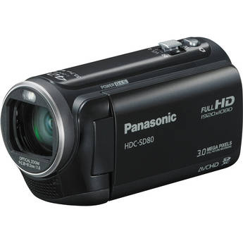 Panasonic HDC-SD80 High Definition PAL Camcorder (Black)