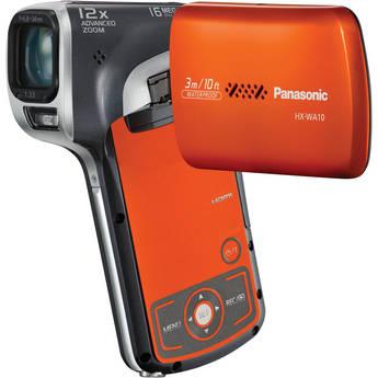 Panasonic HX-WA10 HD Waterproof Dual Camcorder (Orange)