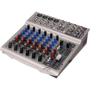 Peavey PV8 USB Live Sound Mixer with 8 Channels and USB