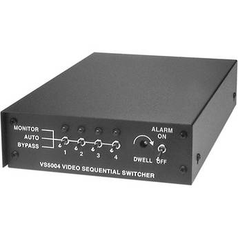 Pelco 4-Position Single Output Sequential Switcher (120VAC)