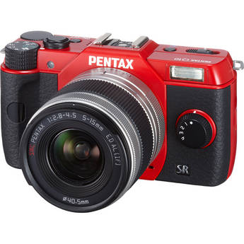 Pentax Q10 Compact Mirrorless Camera with 5-15mm Lens (Red)