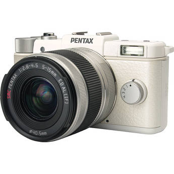Pentax Q Digital Camera with 5-15mm Lens (White)