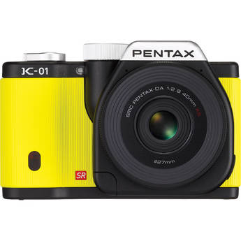 Pentax K-01 Digital Camera With 40mm Lens (Yellow)