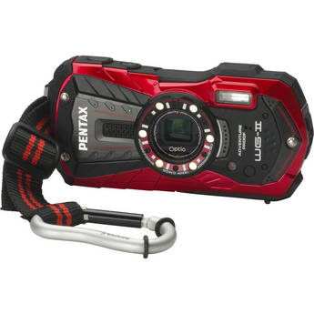 Pentax Optio WG-2 Digital Camera (Red)