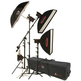 Photogenic 1,500W/s PowerLight 4 Light Studio Kit with PocketWizard (120V)