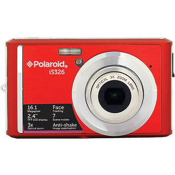 Polaroid iS326 Digital Camera (Red)