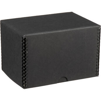 "Print File Drop-Front Metal Edge Archival Storage Box (Black, 4.5 x 6.5 x 4.5"")"