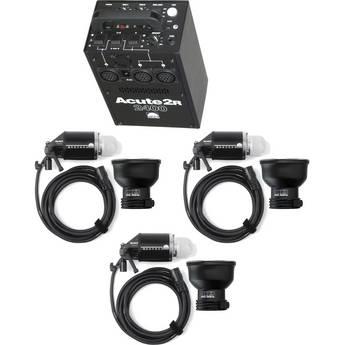 Profoto Acute 2R 2400W/s 2 Head Value Pack Kit (90-260V) - FREE Additional Head