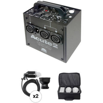 Profoto Acute 2 1200W/s 2 Head Value Pack with Case (90-260V)