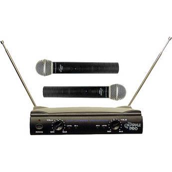 Pyle Pro PDWM2500 Dual VHF Wireless Microphone System