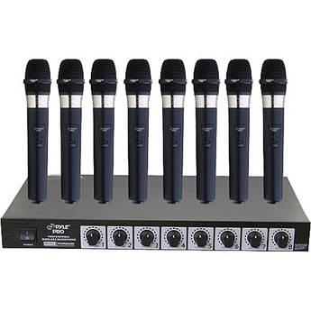Pyle Pro PDWM8400 8-Mic VHF Wireless Rack Mount Microphone System