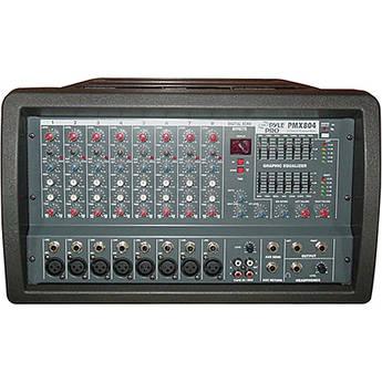 Pyle Pro PMX804 400 Watt 8-Channel Powered PA Mixer/Amplifier