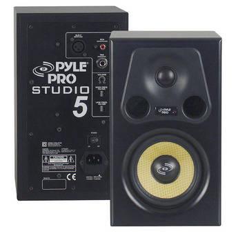 "Pyle Pro PSTUDIO5 300W 5.25"" 2-Way Active Studio Monitor Speaker (Single)"