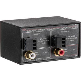RDL TX-A2D Stereo Balanced to Unbalanced Signal Converter