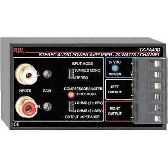 RDL TX-PA40D - 40 Watt Stereo Amplifier