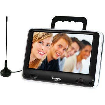 """RJ Technology Inc. 7"""" Portable Digital TV (Built-In Handle/Stand)"""