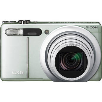 Ricoh CX5 Digital Camera (Green Silver)