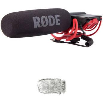 Rode VideoMic Camera Mounted Shotgun Mic & Dead Cat Wind Muff B&H Kit